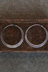 HOMART Silver Hoop Earring