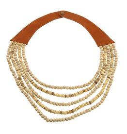 HOMART Wood Bead Necklace