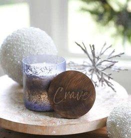 CRAVE Blue Mercury Glass Candle