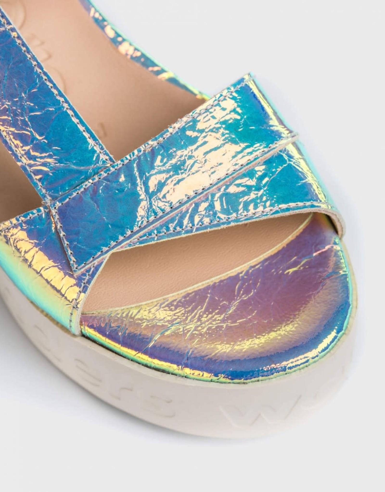 WONDERS Sunrise Iridescent Platform Sandal