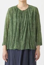 PAS DE CALAIS Leaf Print Pleated Blouse