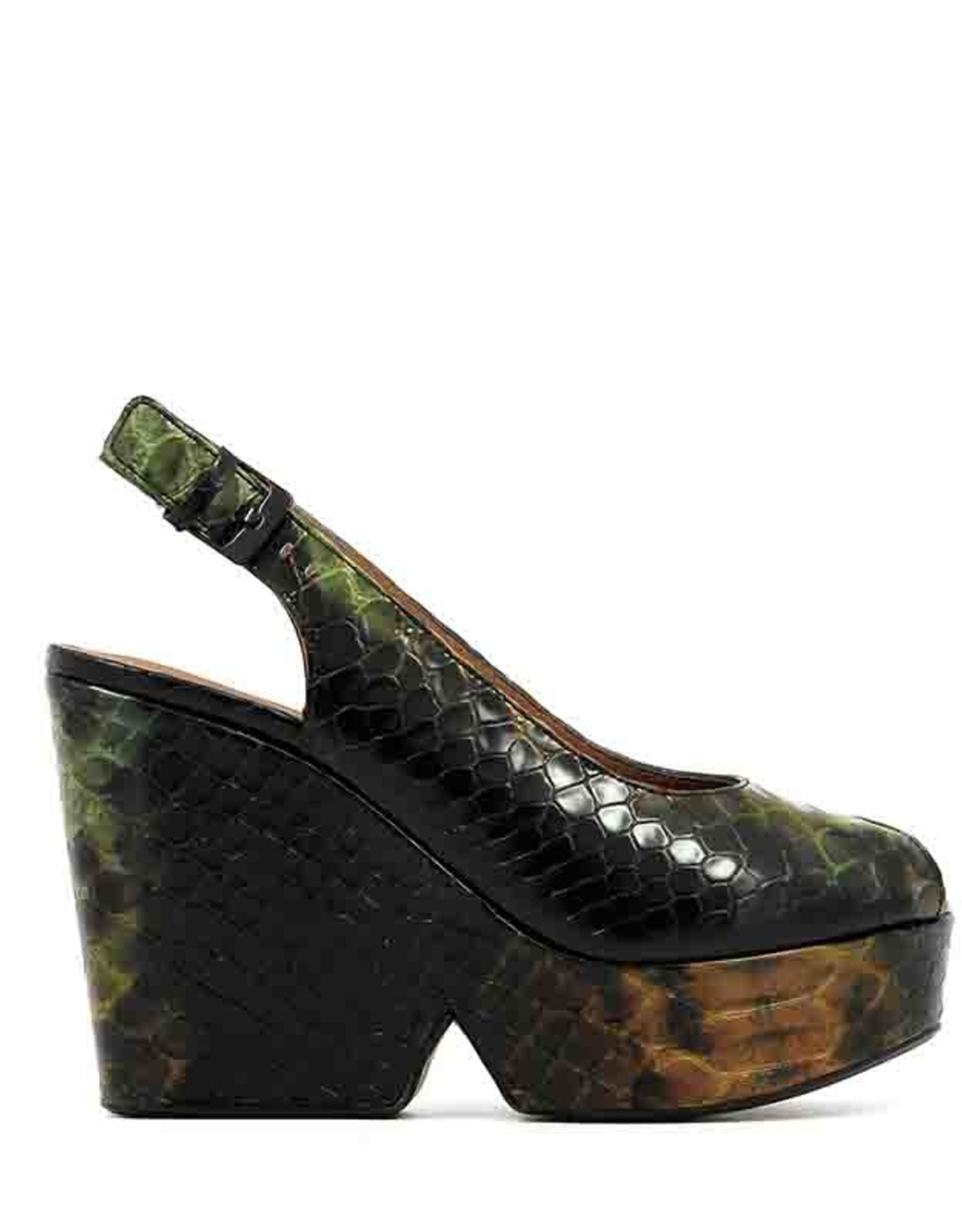CLERGERIE Dylan Snake Print Wedge