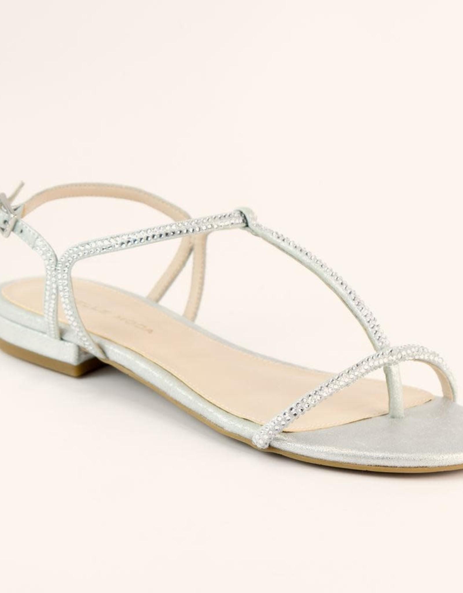 PELLE MODA Barber Metallic Suede Sandal