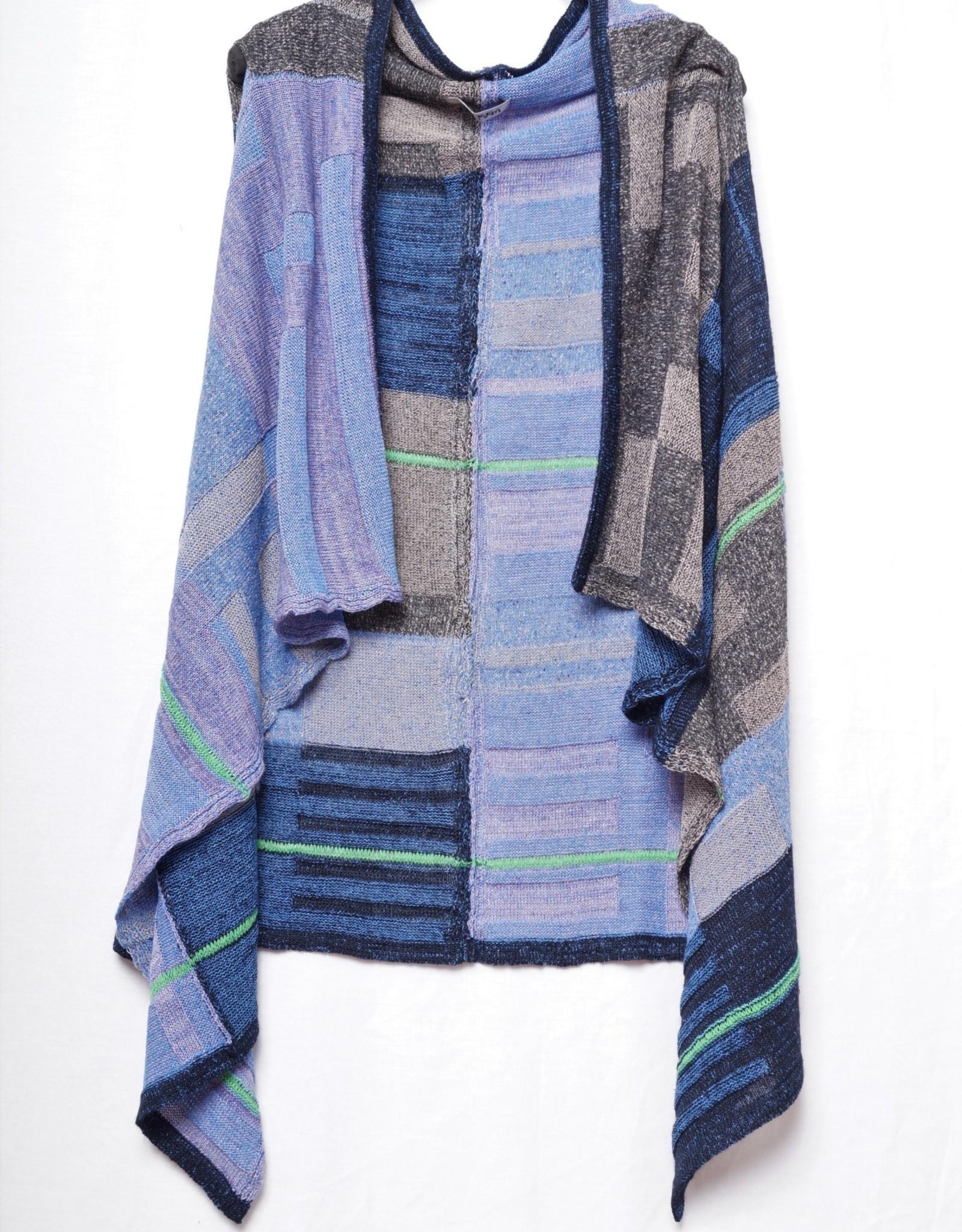 M. & KYOKO Color Block Vest FBAH218W