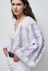 NILI LOTAN Palestinian Anna Embroidered Top
