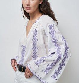 NILI LOTAN Anna Embroidered Top