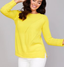 PEACE OF CLOTH Mixed Stitch Long Sleeve Top