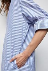 NILI LOTAN Raven Stripe Shirtdress