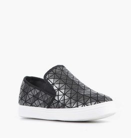 ALL BLACK Graphic Round Sneaker