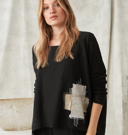CREA Embroidered Linen Top