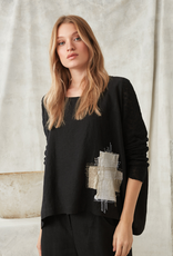 CREA Embroidered Linen Top