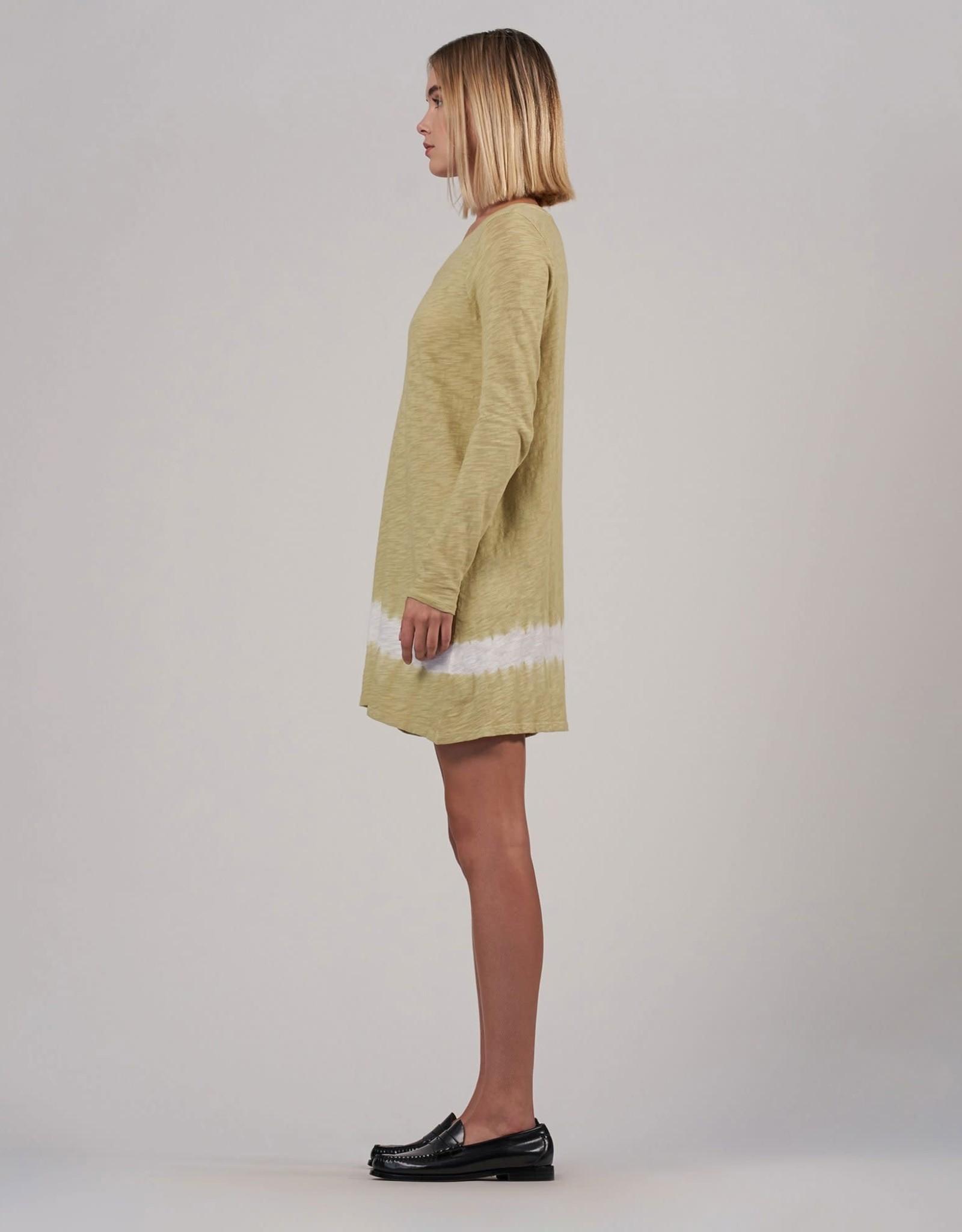 ATM Slub Jersey V-Neck Dress