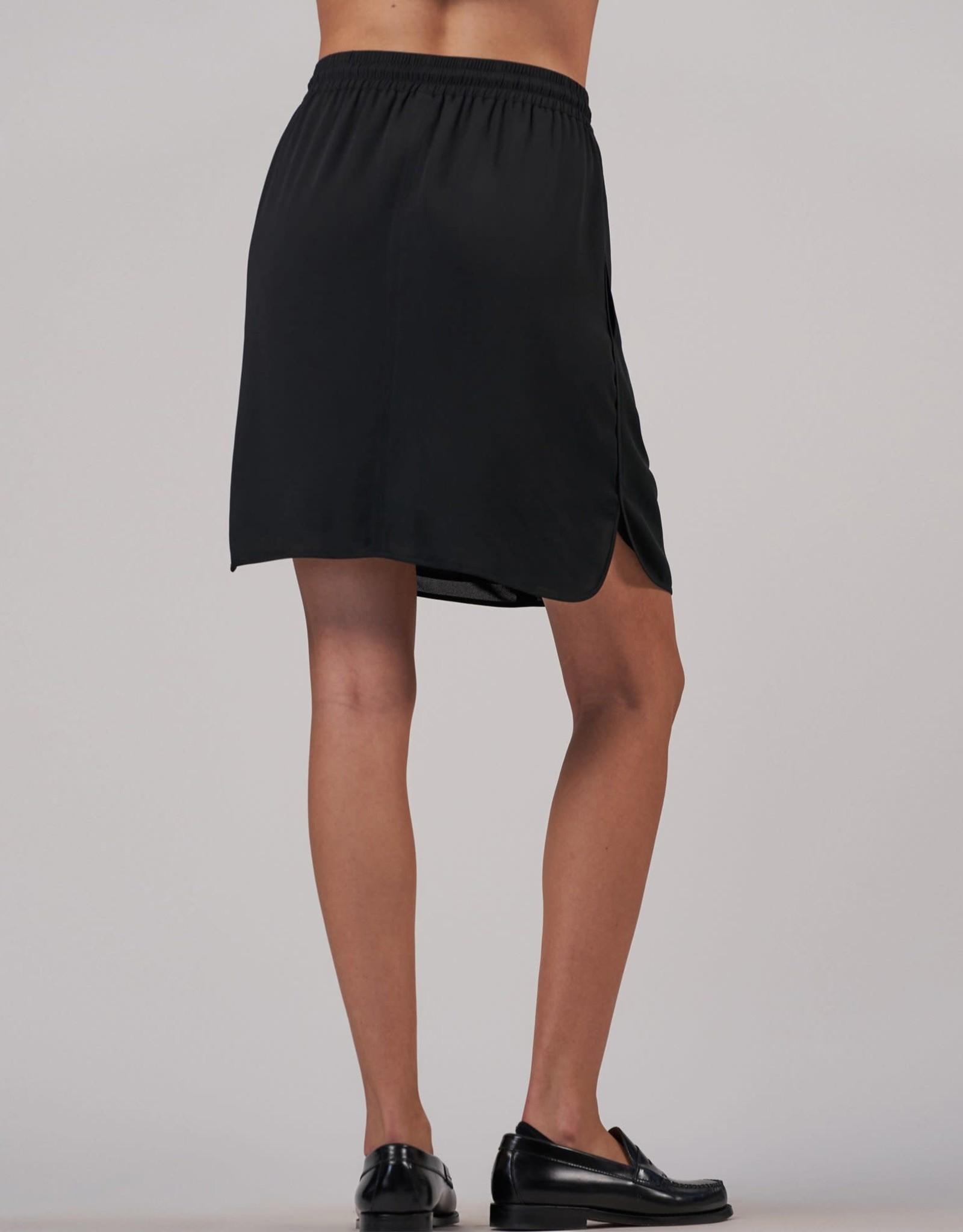ATM Crepe Georgette Pull On Skirt