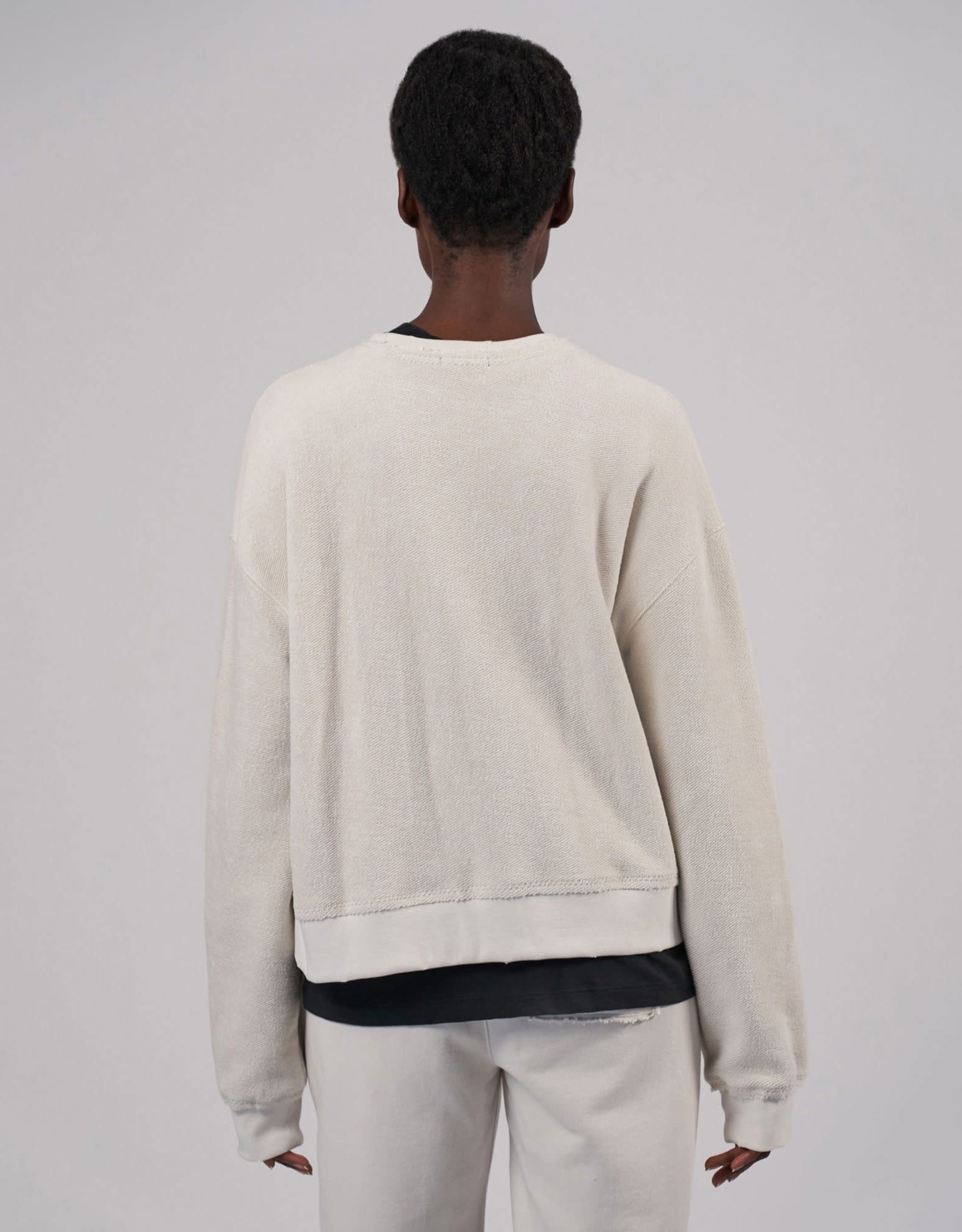 ATM French Terry Destroyed Wash Sweatshirt