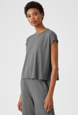 EILEEN FISHER Fine Jersey Square Top