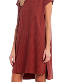 EILEEN FISHER Hi Lo Stretch Dress