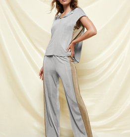 BARUNI Wide Leg Metallic Pant
