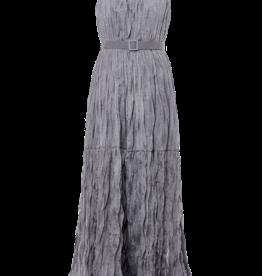 BARUNI Wrinkle Lurex Belted Dress