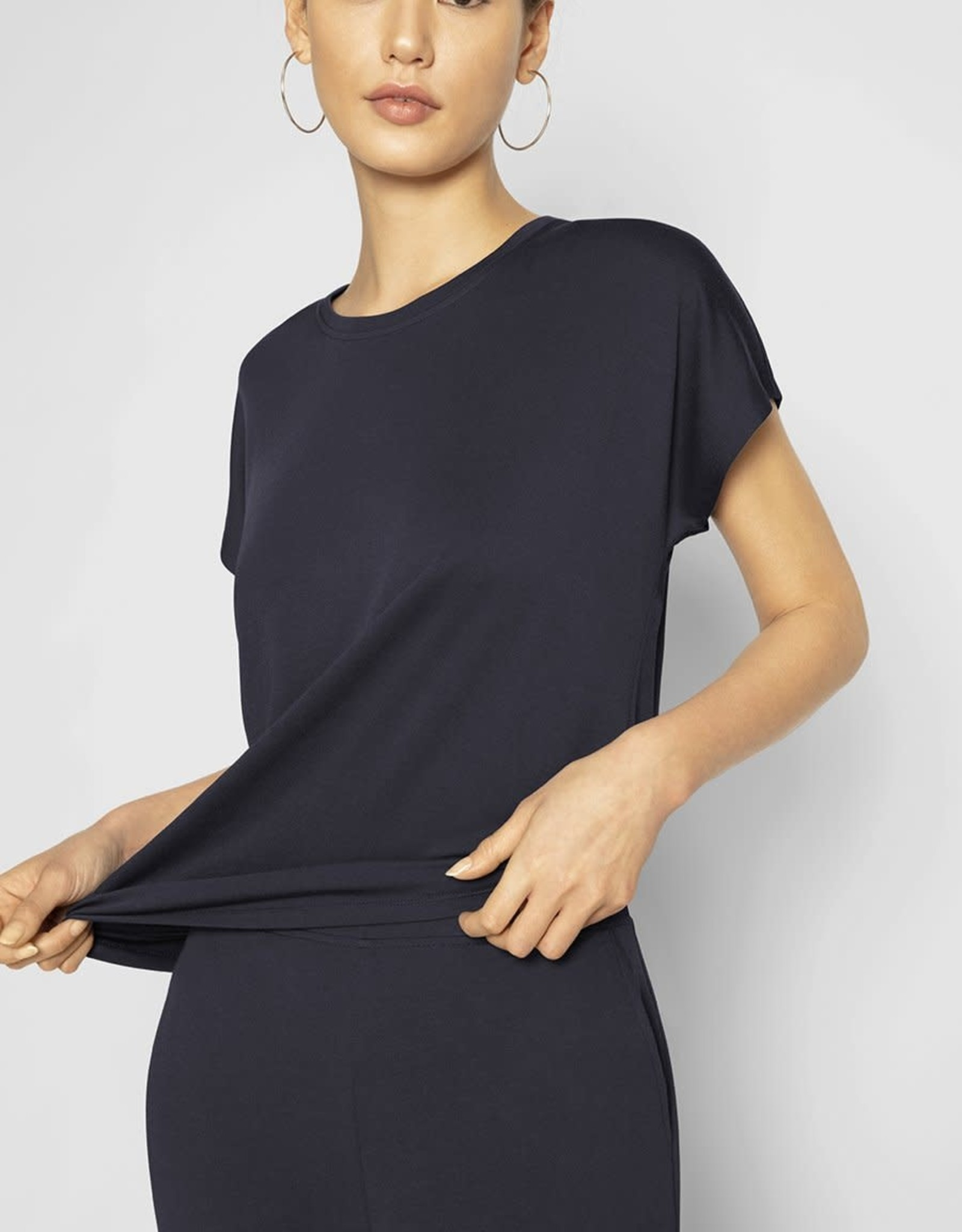 B NEW YORK Ruched Side T-shirt