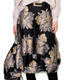 BEATE HEYMANN Metallic Floral Skirt