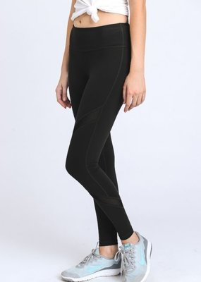 Cross Mesh Panel Legging