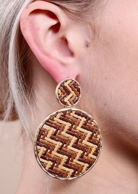 Wooden Rafia Earrings