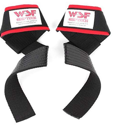 World Standard Fitness WSF Grip Tech Rubberized Lifting Straps