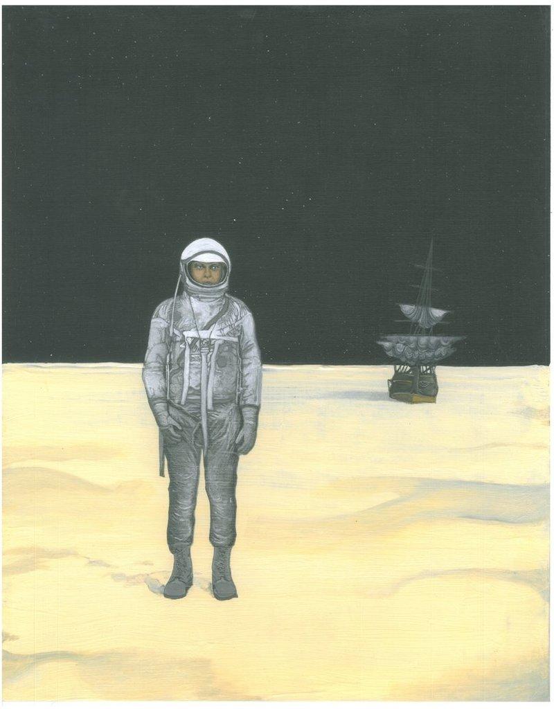 Charles Smith print MAN ON MOON