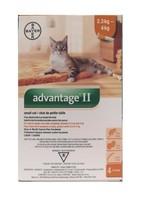 BAYER ADVANTAGE II SMALL CAT 2.3-4kG (4-9lbs)