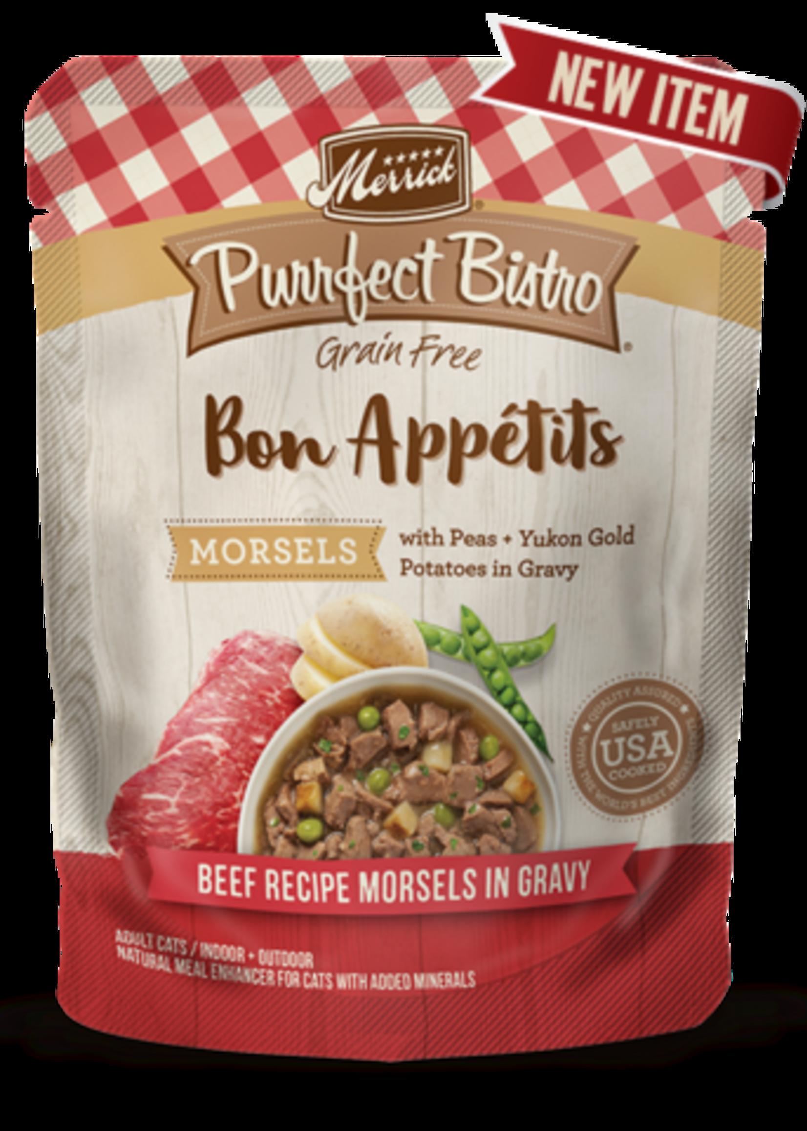Merrick® Purrfect Bistro®  Beef Recipe Morsels in Gravy 3oz