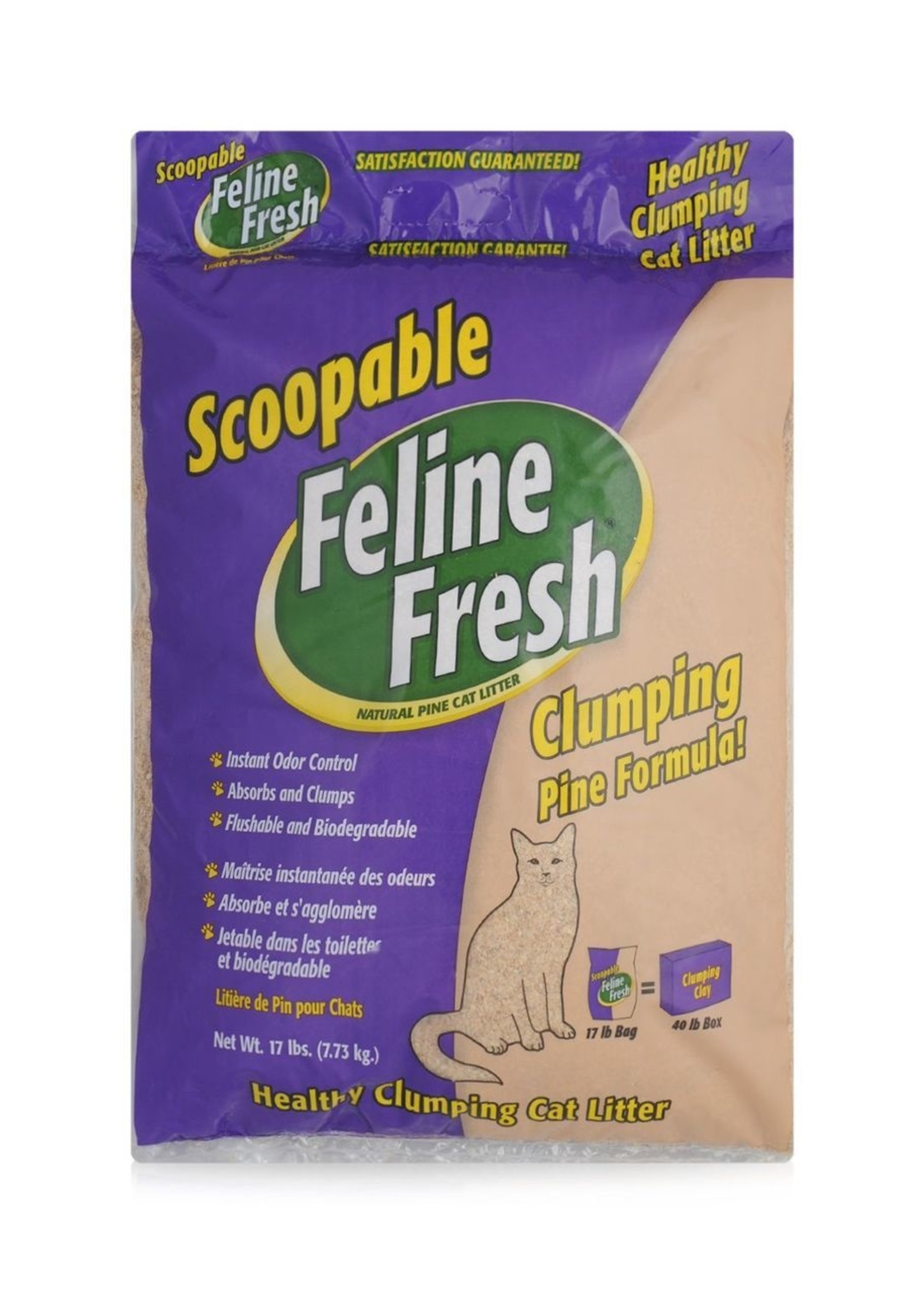 Feline Fresh® FELINE FRESH PINE LITTER CLUMPING 17lbs