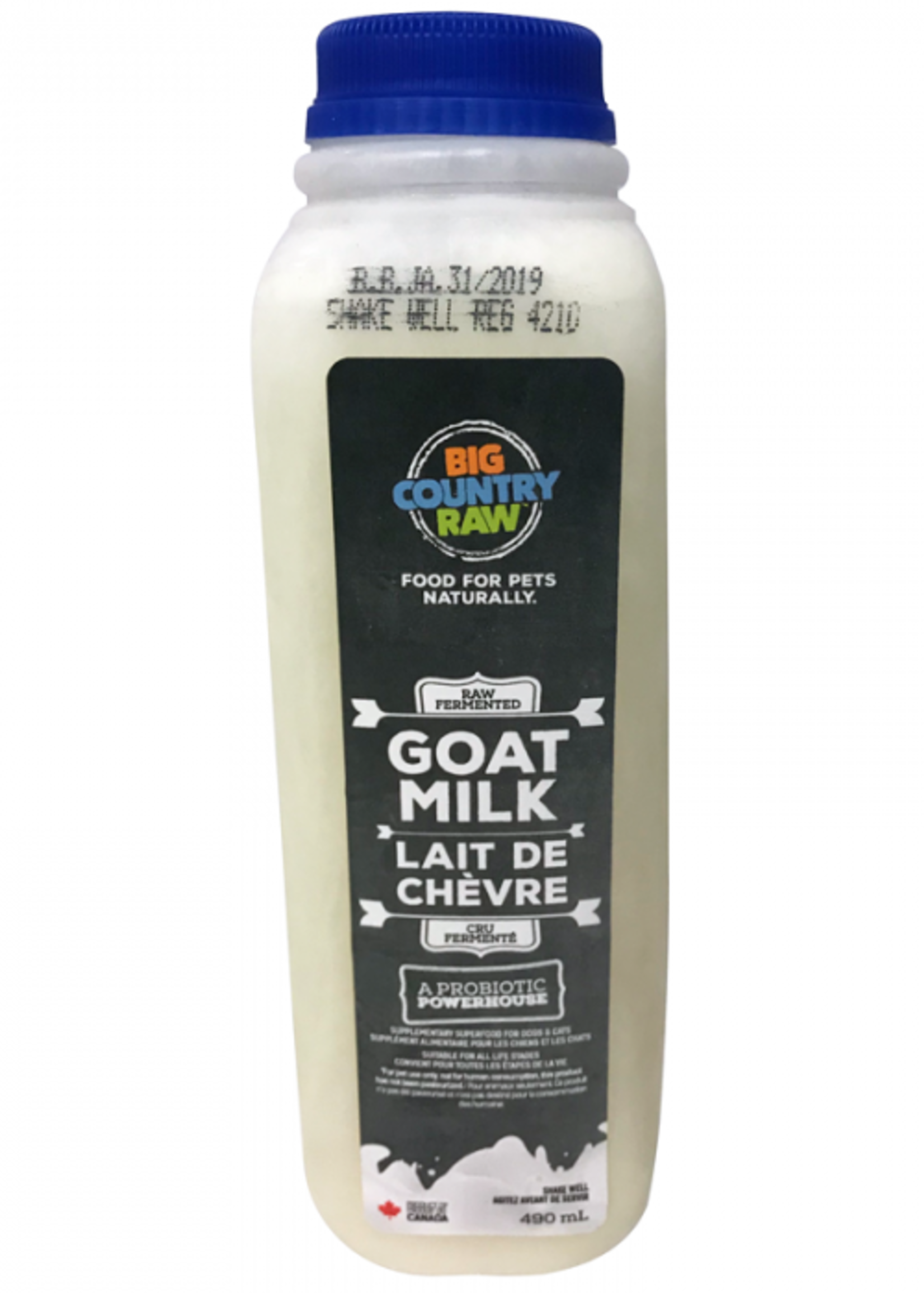 Big Country Raw Big Country Raw Raw Goat Milk 490mL