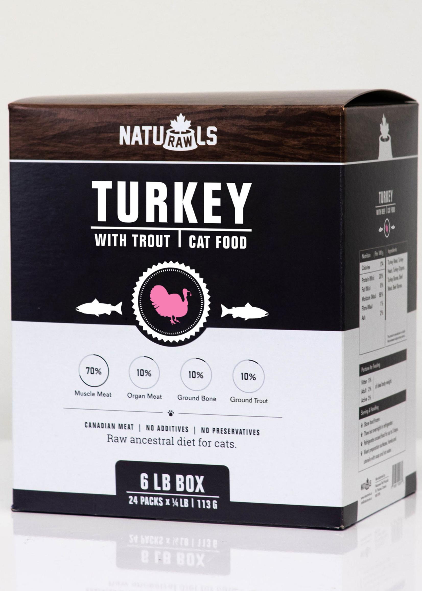 NatuRAWls NATURAWLS CAT TURKEY TROUT 1/2 lb (Two)