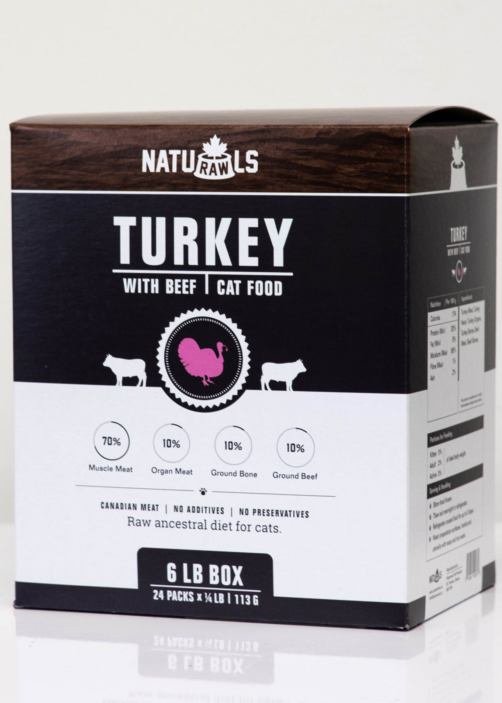 NatuRAWls NATURAWLS CAT TURKEY BEEF 1/2lb (Two)