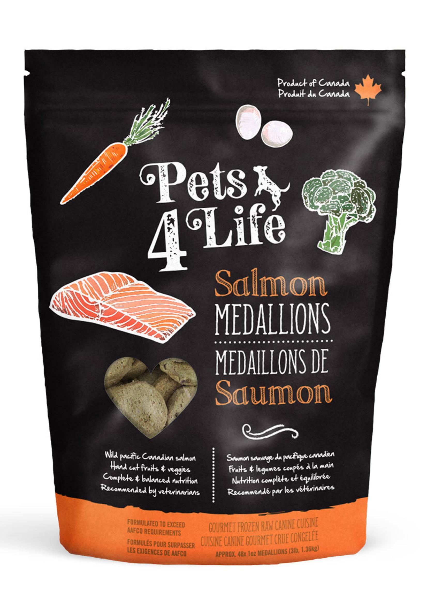 Pets4Life Pets4Life Salmon Medallions 3lbs