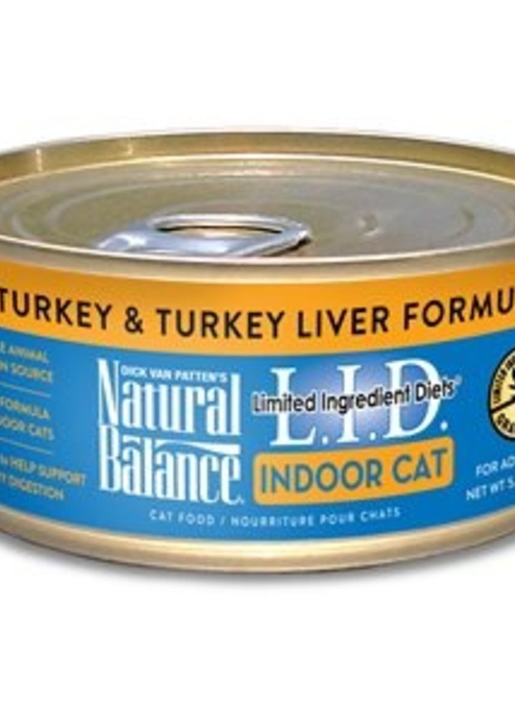 Natural Balance® NATURAL BALANCE L.I.D. INDOOR TURKEY & TURKEY LIVER FORMULA 5.5oz