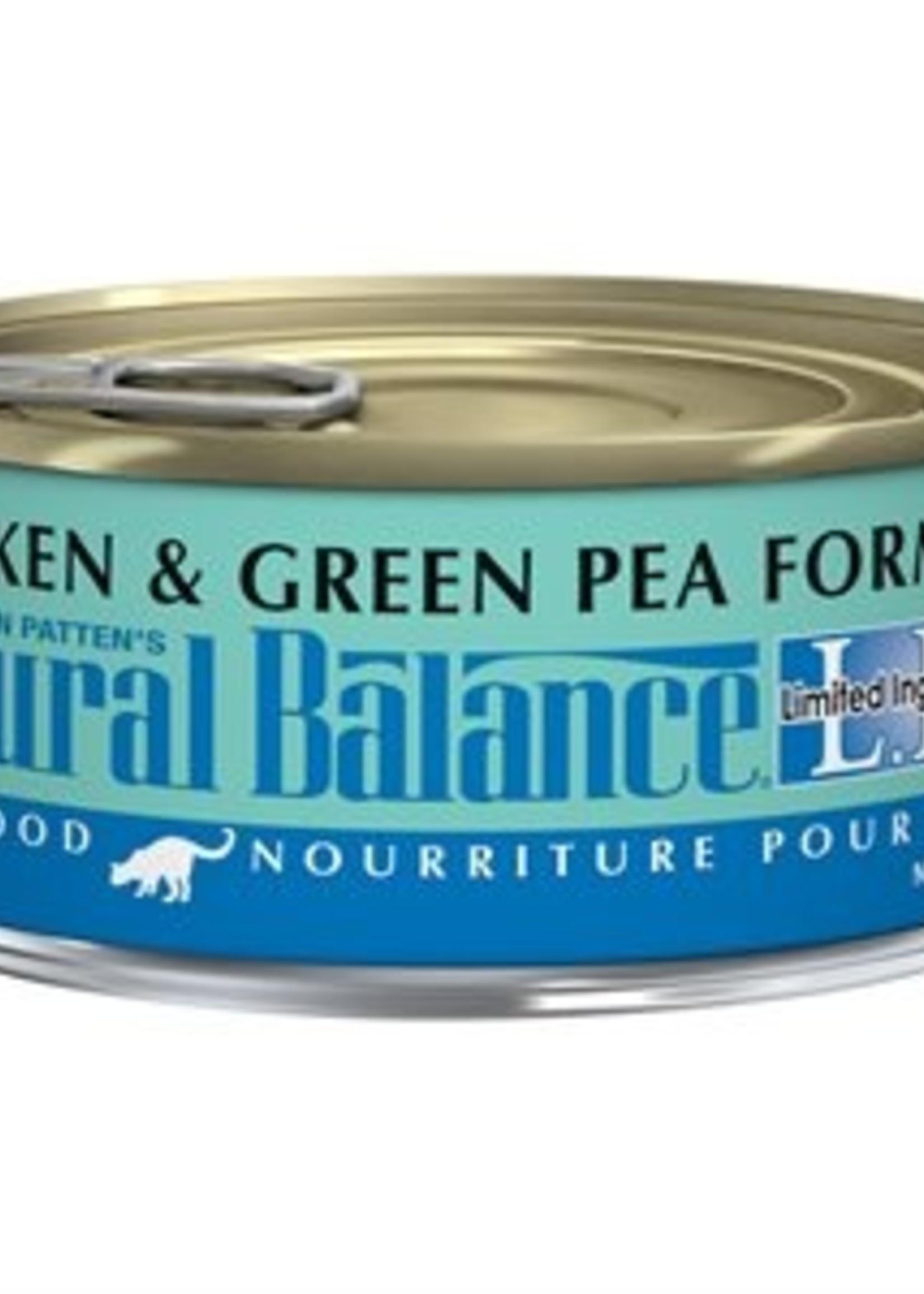 Natural Balance® NATURAL BALANCE L.I.D. CHICKEN & GREEN  PEA FORMULA 5.5oz