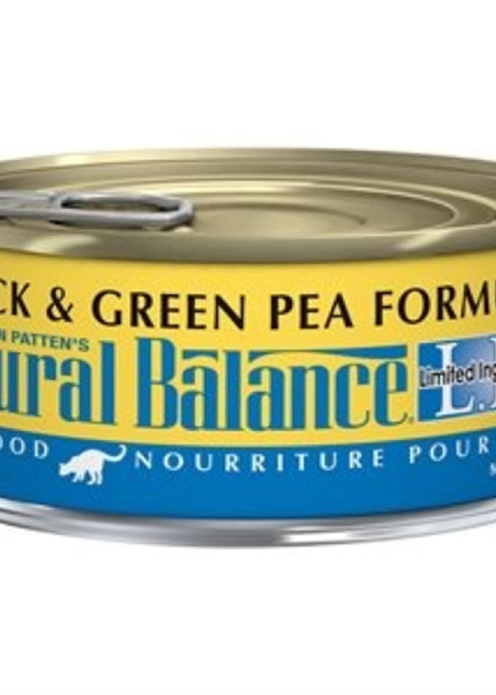 Natural Balance® NATURAL BALANCE L.I.D. DUCK/w GREEN PEA 5.5oz