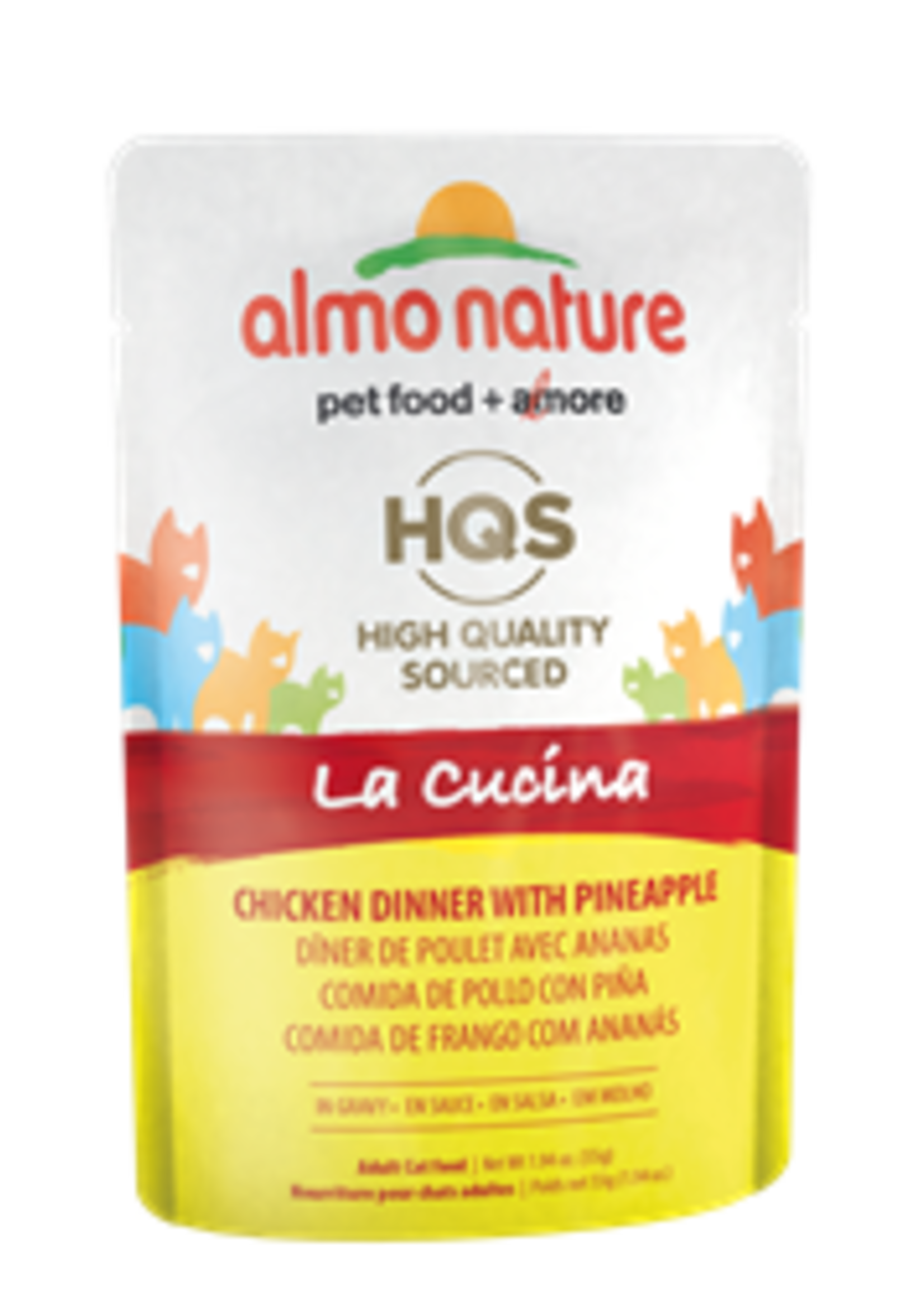 Almo Nature© Almo Nature HQS La Cucina Chicken Dinner with Pineapple in Gravy 55g