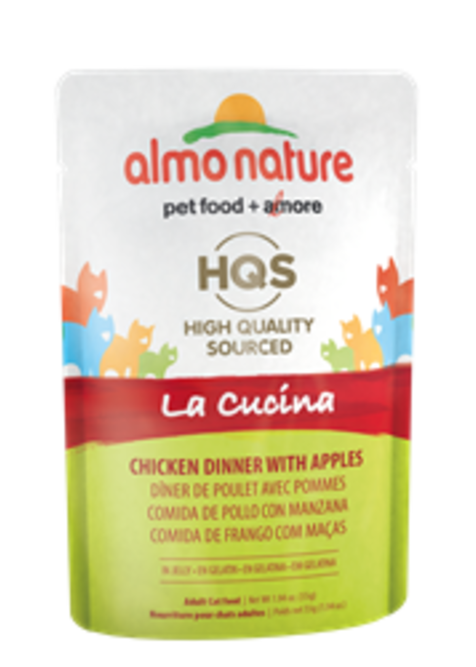 Almo Nature© Almo Nature HQS La Cucina Chicken Dinner with Apple in Jelly 55g