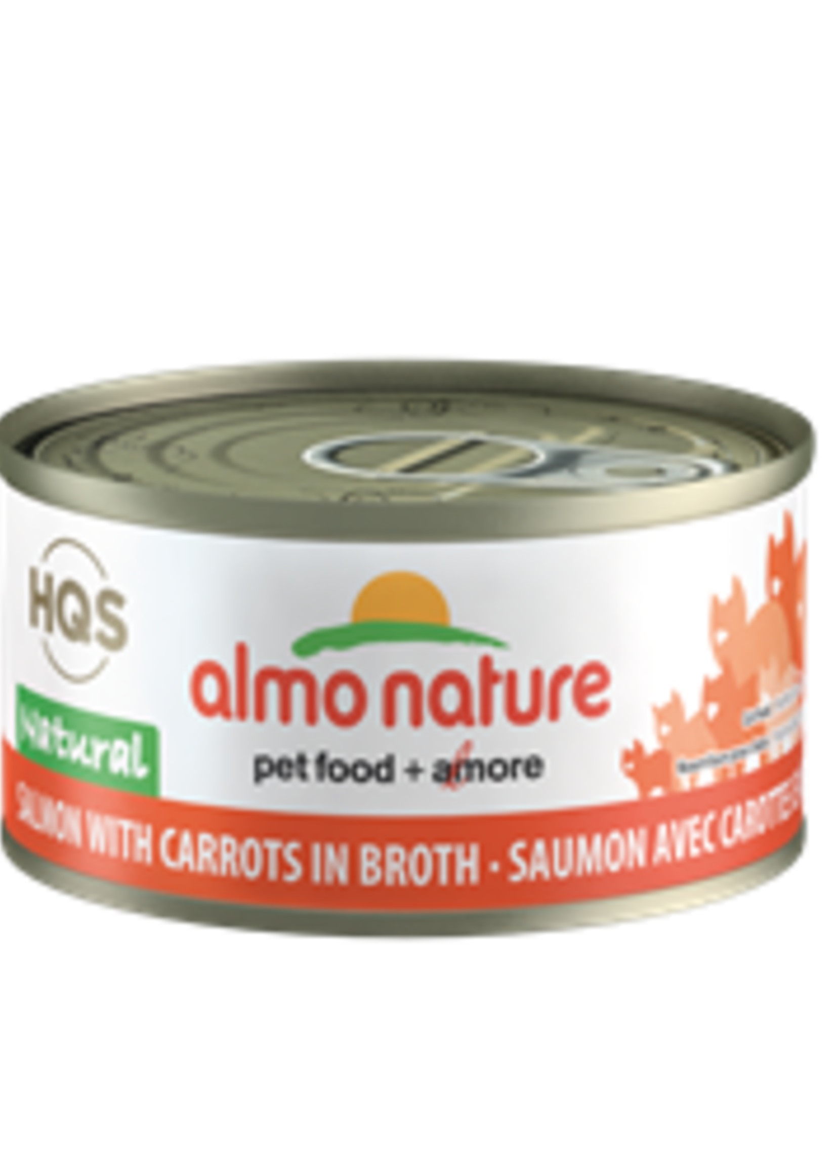 Almo Nature© Almo Nature HQS Natural Salmon with Carrots in Broth 70g