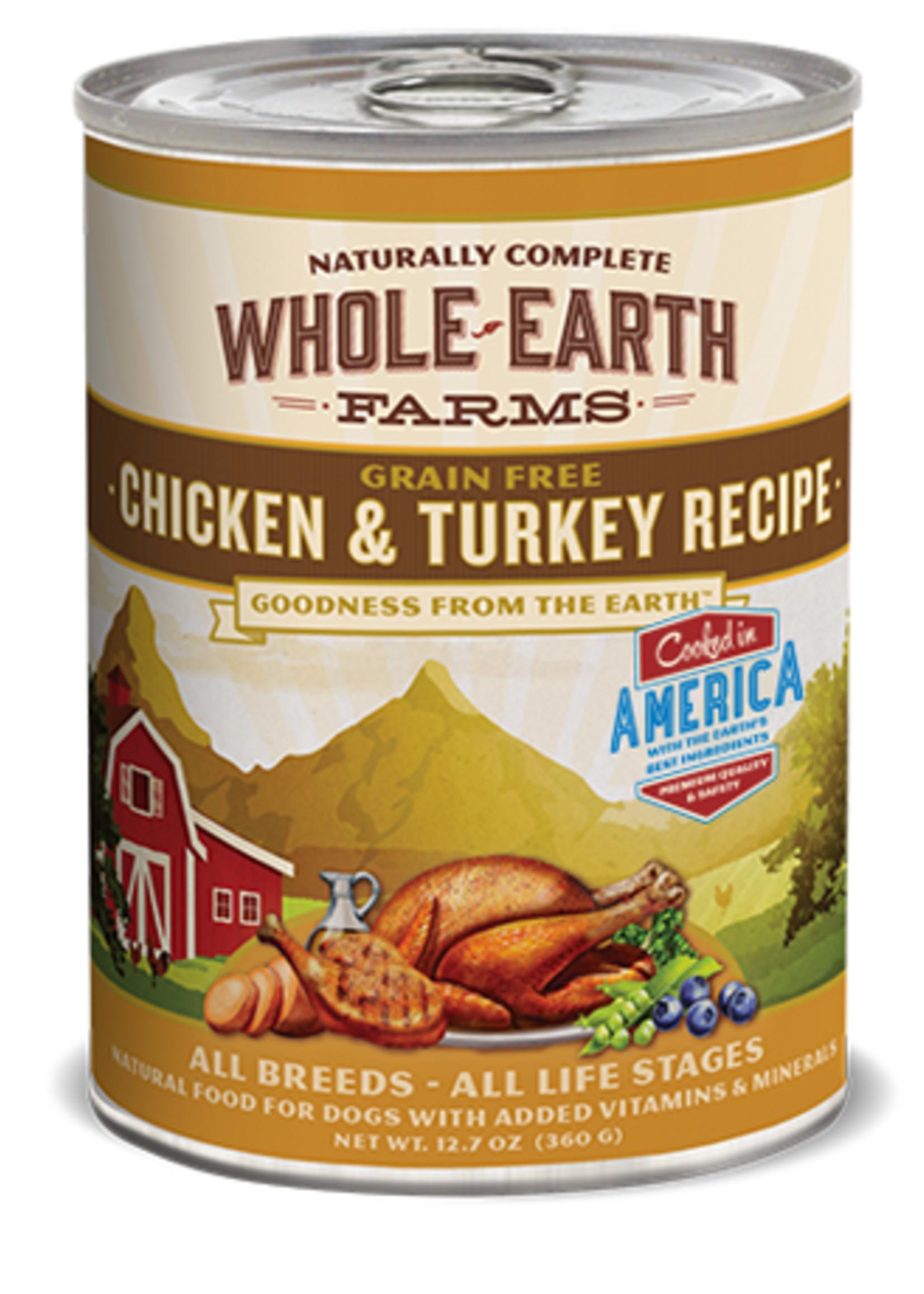 Merrick® MERRICK WHOLE EARTH FARMS GRAIN FREE CHICKEN & TURKEY RECEIPE 12.7oz