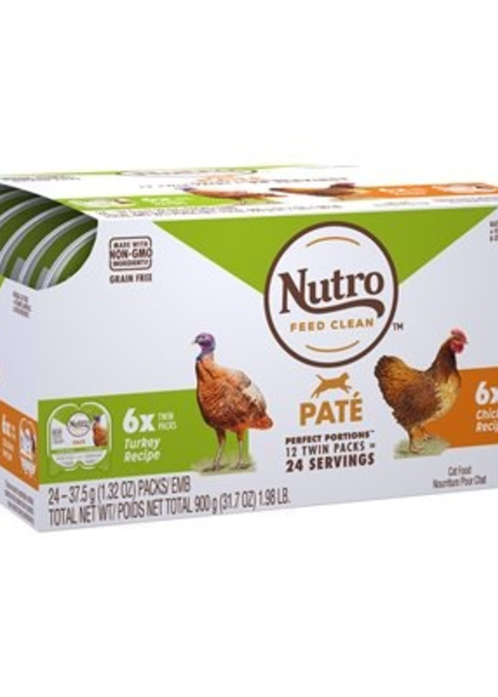 Nutro™ NUTRO PERFECT PORTIONS GRAIN FREE PATE CHICKEN AND TURKEY 12x2 PACK