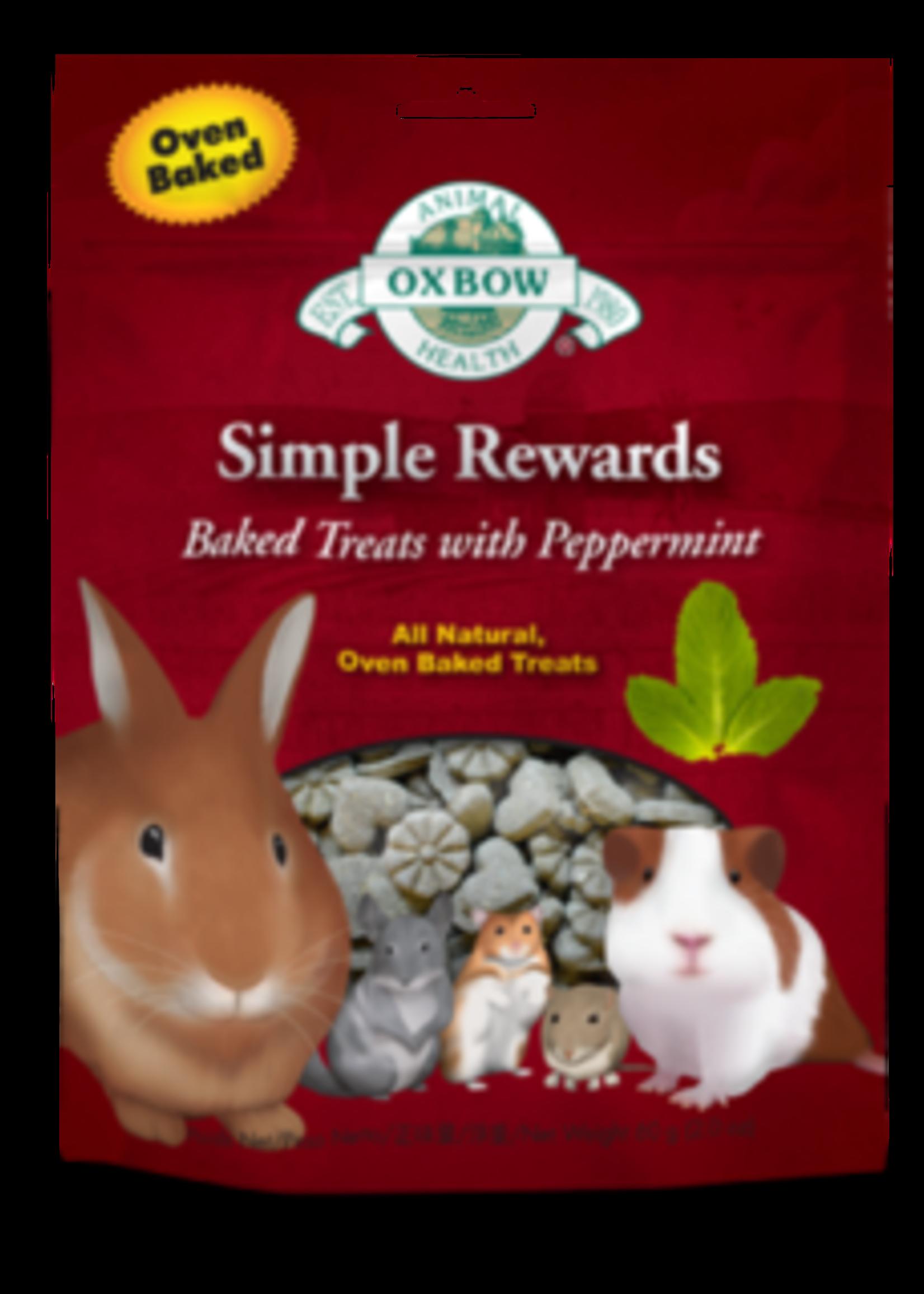 Oxbow Animal Health™ SIMPLE REWARDS BAKED TREATS w/PEPPERMINT 2oz