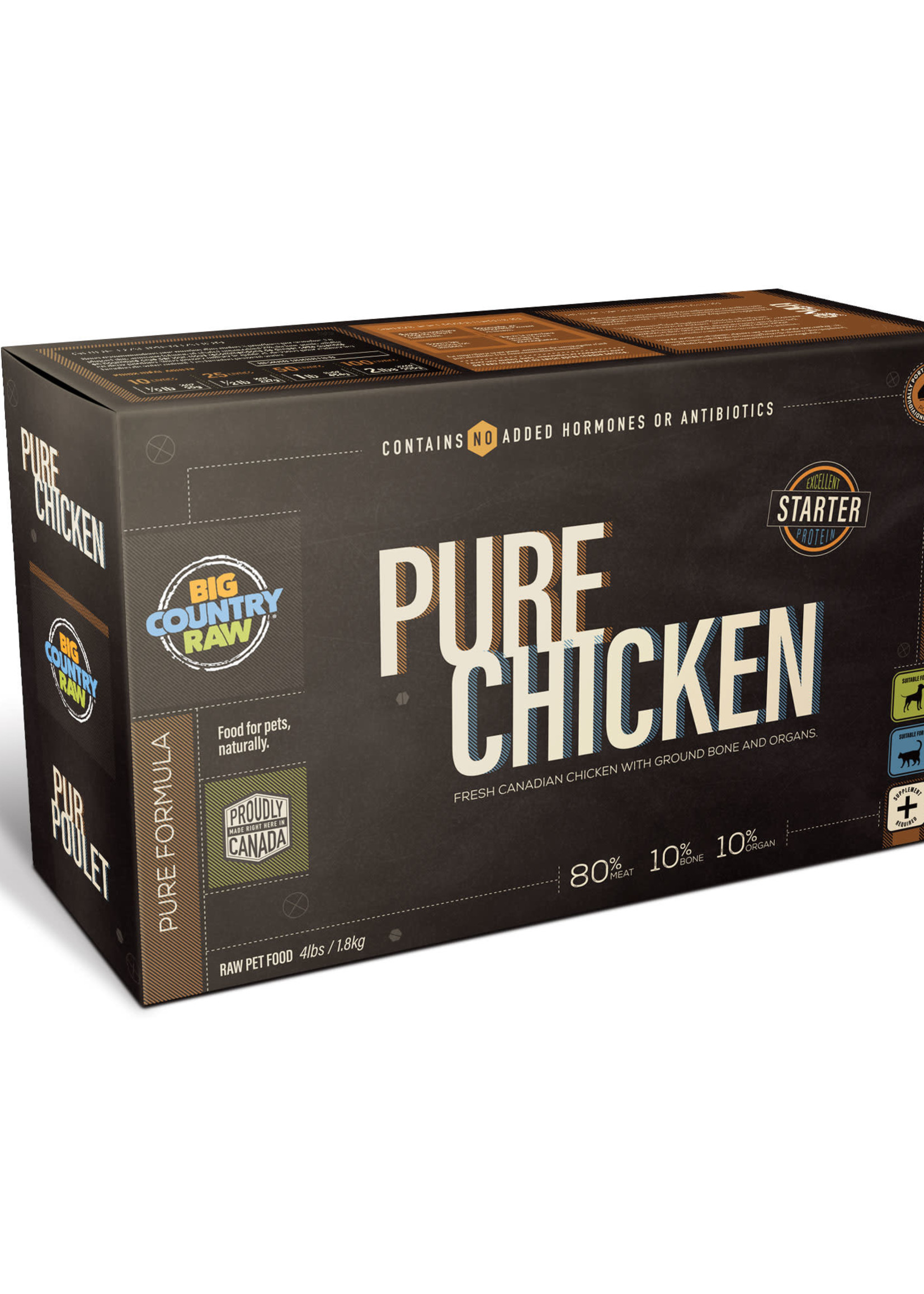 Big Country Raw Big Country Raw Pure Chicken 4x1lb