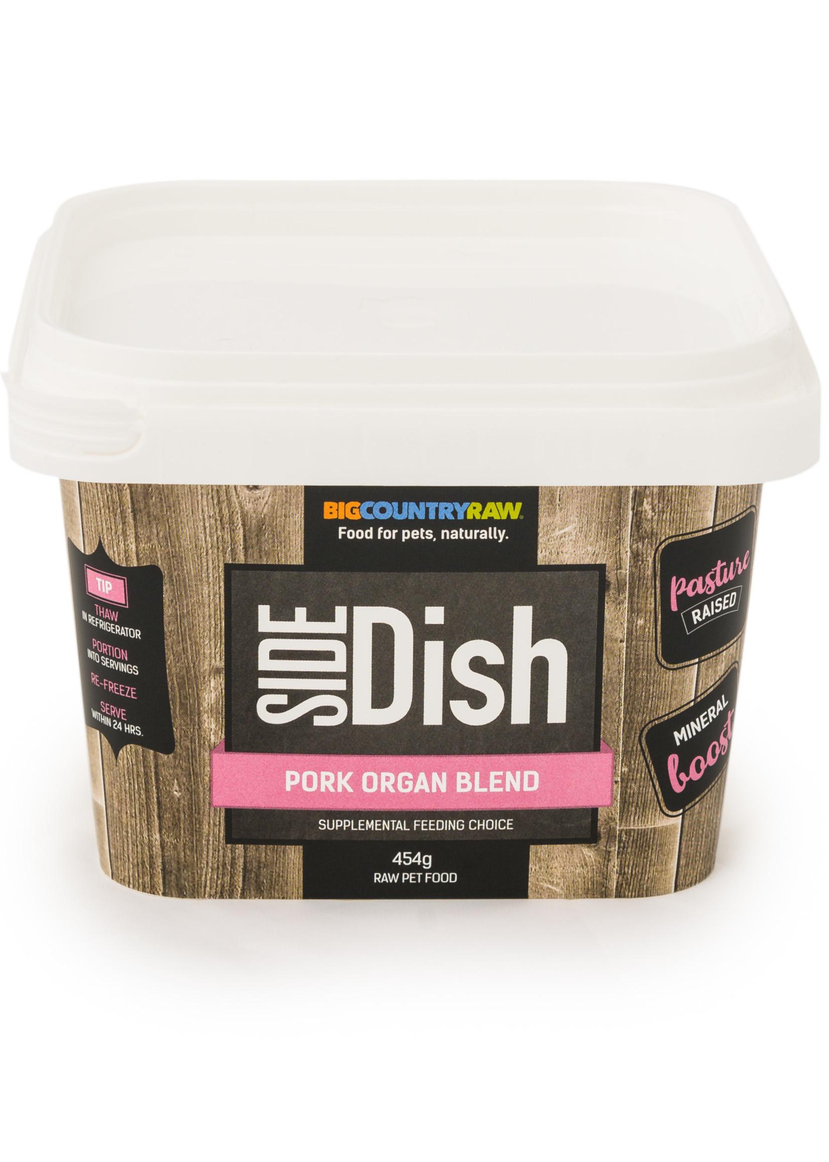 Big Country Raw Big Country Raw Side Dish Pork Organ Blend 1lb