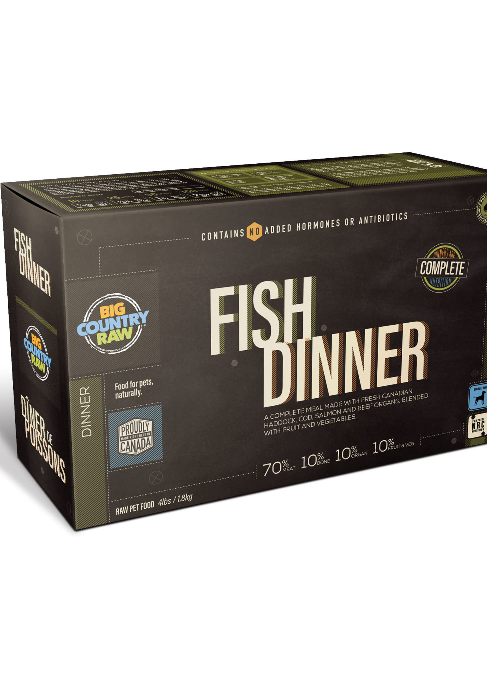 Big Country Raw Big Country Raw Fish Dinner 4x1lb
