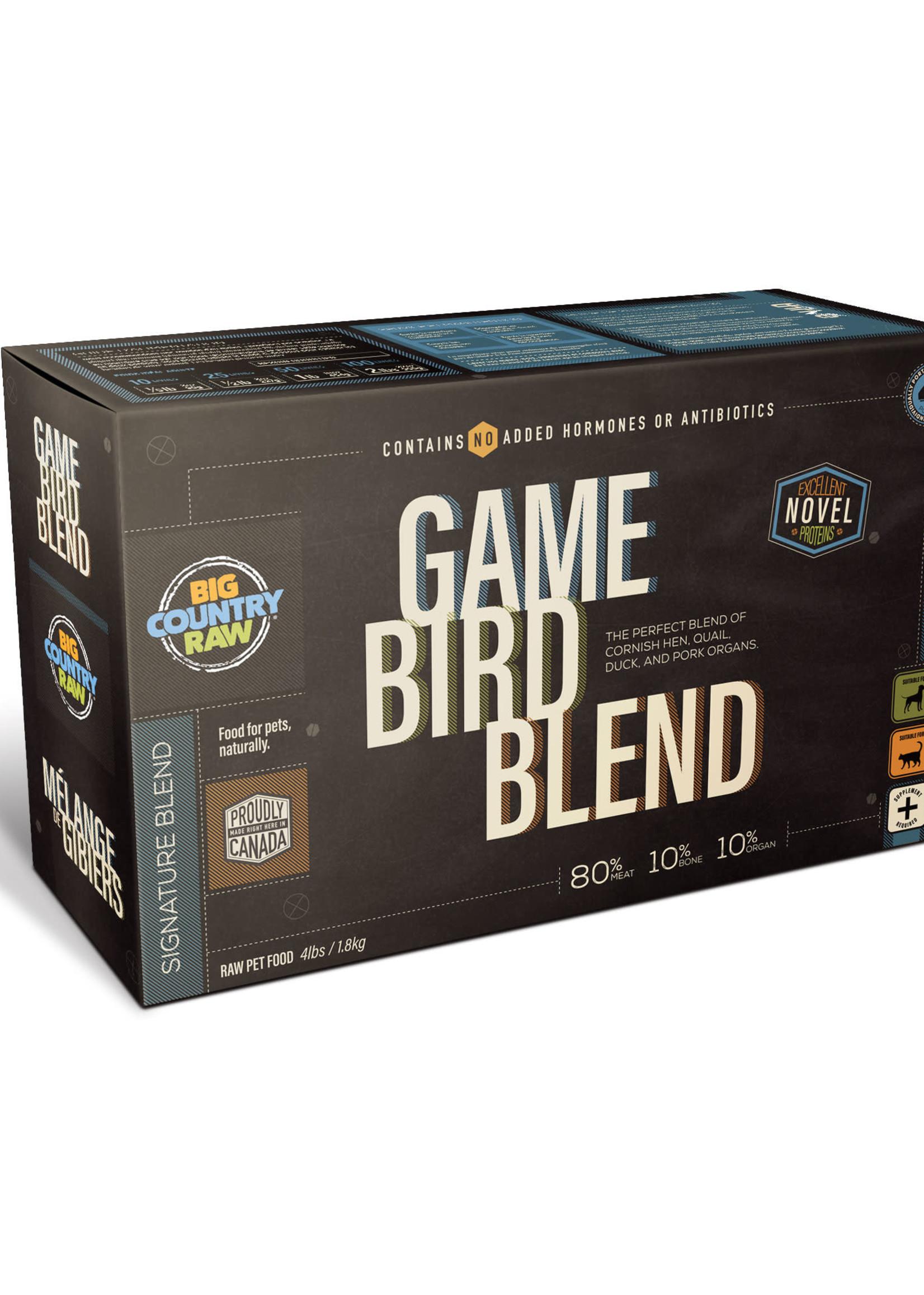 Big Country Raw Big Country Raw Game Bird Blend 4x1lb