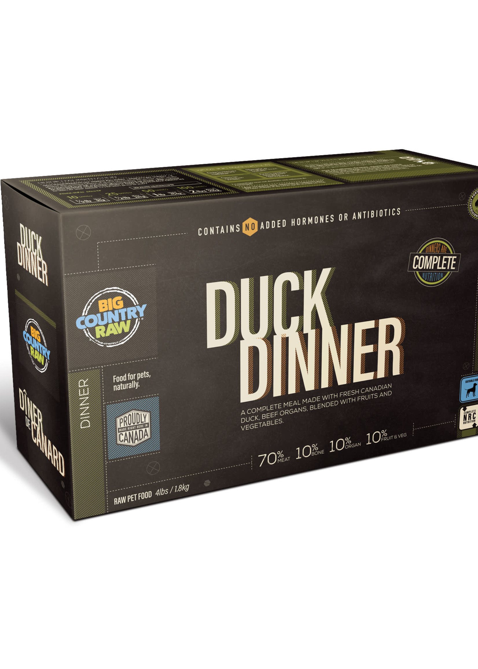 Big Country Raw Big Country Raw Duck Dinner 4x1lb