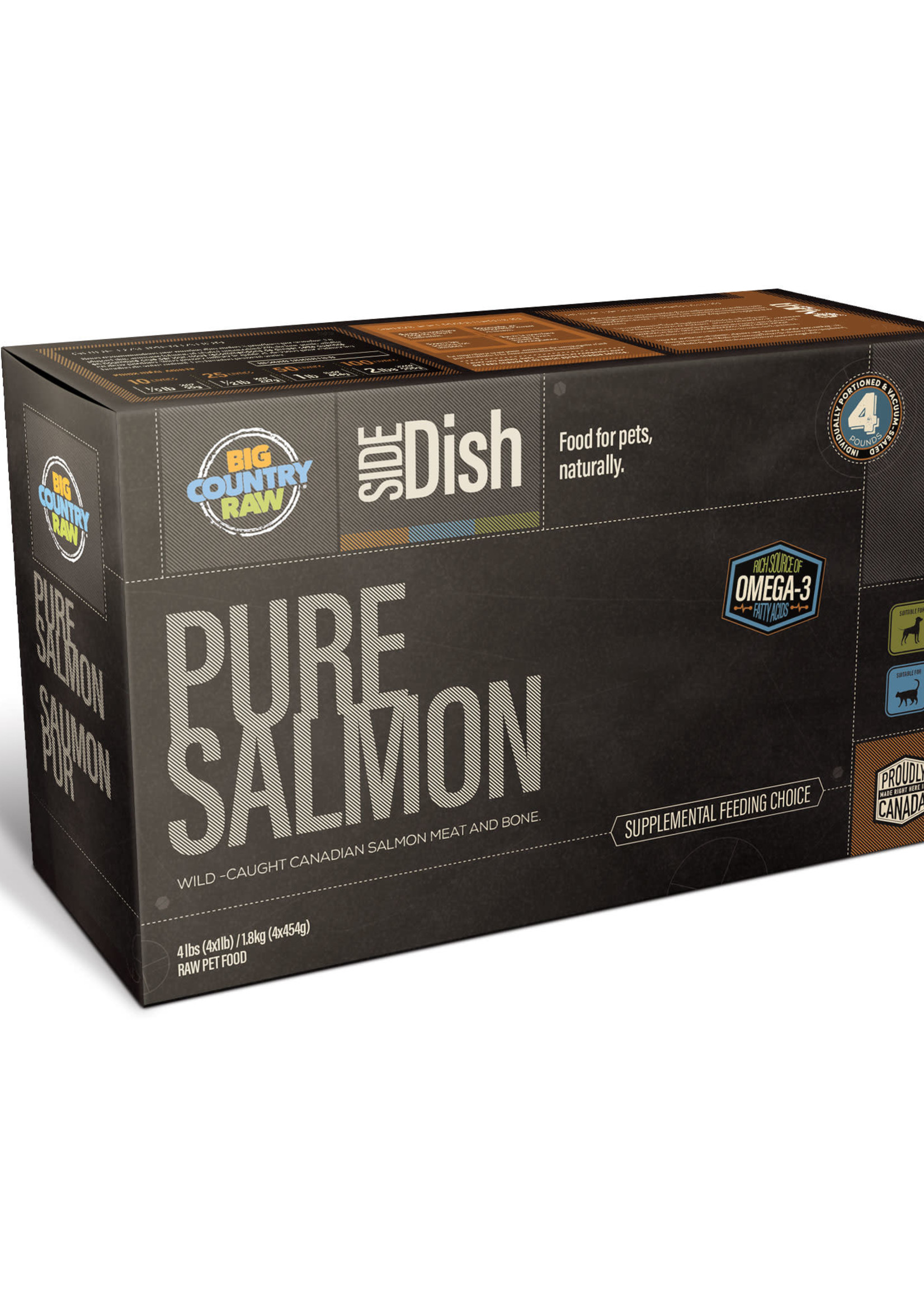 Big Country Raw Big Country Raw Pure Salmon 4x1lb